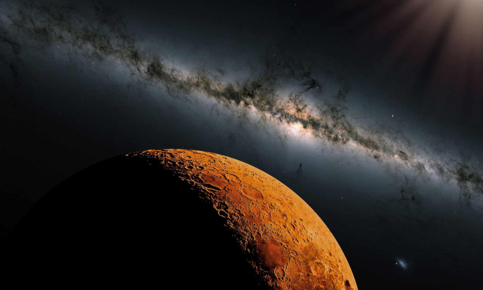 An artist's impression of Mars